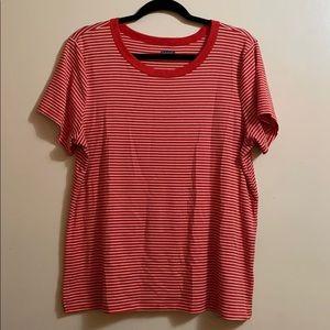 Red/orange striped top